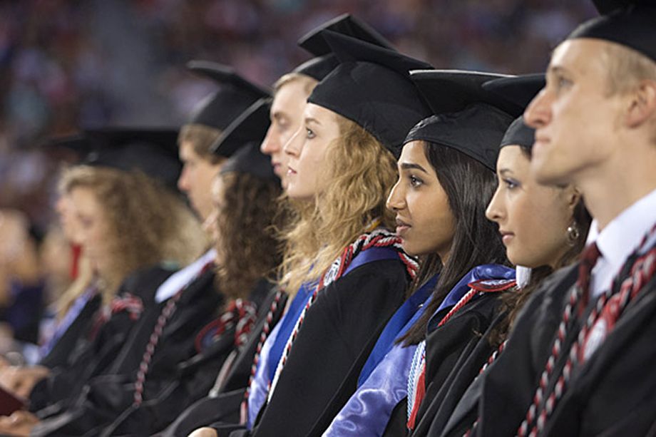 UGA Honors graduates during spring commencement