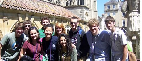 fellows and ramseys visiting Bath, England