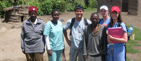 student intern working in global health in tanzania