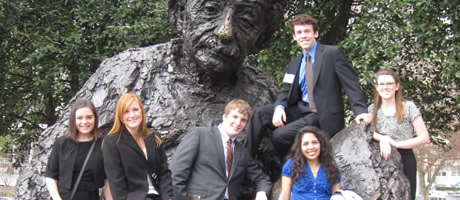 first-year fellows at the einstein sculpture in washington, dc