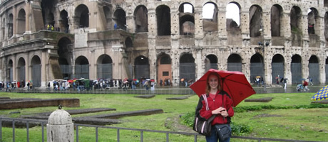 ramsey scholar at the coliseum in rome