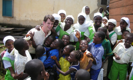 McCoy working with schoolchildren in Ghana