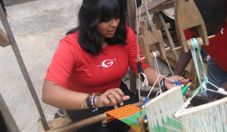 Sheena weaving in Ghana