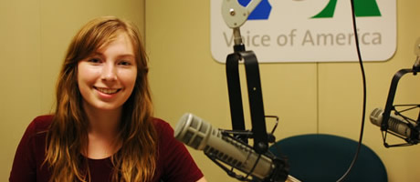 honors intern working at voice of america in washington