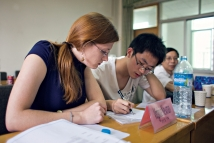 Fulbright recipient Ginny Newman working in China