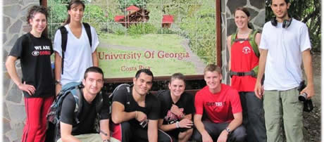 Honors Program students at a research symposium in Costa Rica