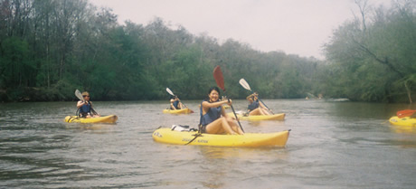 ramsey scholars kayaking the broad river