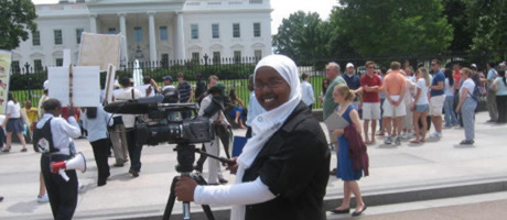 student working for Voice of America in Washington