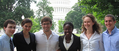 washington interns in front of the capitol