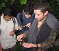 udall scholar todd pierson working in the field in costa rica