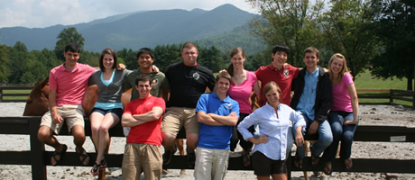 fourth-year ramsey scholars on retreat in north georgia mountains